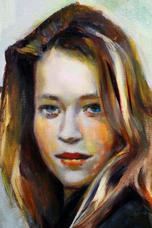Girl with blush 50 x 70 cm